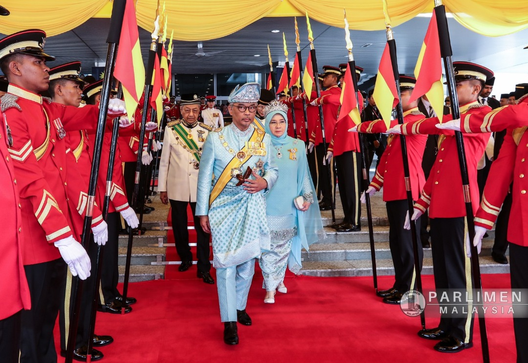 Image result for agong in parliament